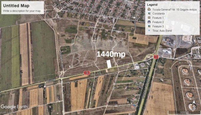 de vanzare teren intravilan cu suprafata de 1440 mp si deschidere de 1665 metri. In orasul Constanta, zona Km 5.