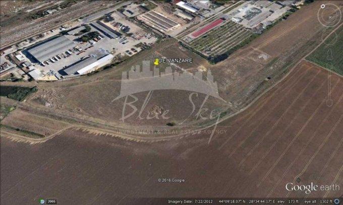 de vanzare teren intravilan cu suprafata de 46900 mp si deschidere de 100 metri. In orasul Constanta, zona Industriala.