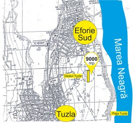 agentie imobiliara vand teren intravilan in suprafata de 9000 metri patrati, amplasat in zona Sud, orasul Eforie Sud