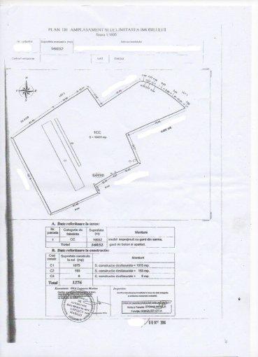 Teren intravilan de vanzare direct de la agentie imobiliara, in Ovidiu, cu 561.120 euro. Suprafata de teren 16032 metri patrati cu deschidere de 102 metri.