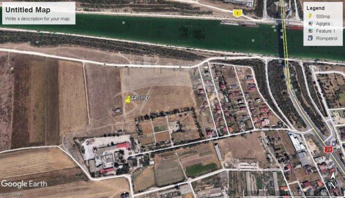 de vanzare teren intravilan cu suprafata de 440 mp si deschidere de 20 metri. In comuna Agigea.