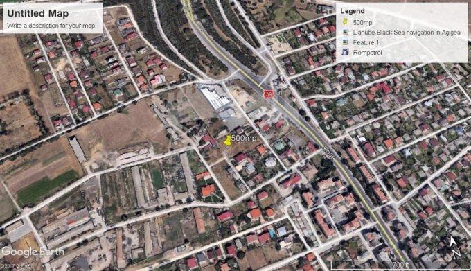 Teren intravilan de vanzare direct de la agentie imobiliara, in Agigea, cu 30.000 euro negociabil. Suprafata de teren 500 metri patrati cu deschidere de 17 metri.