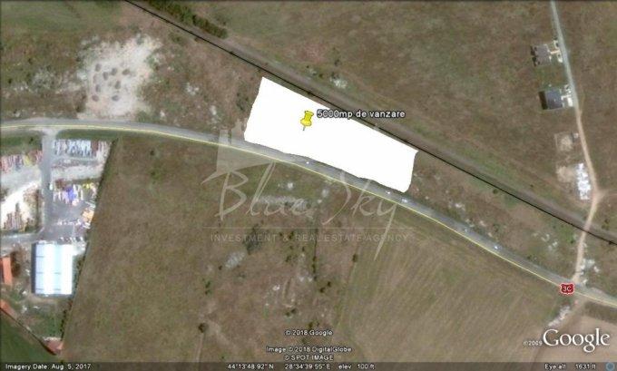 de vanzare teren intravilan cu suprafata de 2000 mp si deschidere de 44 metri. In orasul Ovidiu.