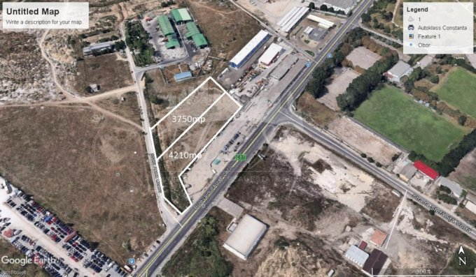 Teren intravilan de vanzare in Constanta, zona Tomis Nord. Suprafata terenului 4210 metri patrati, deschidere 6585 metri. Pret: 526.250 euro negociabil.