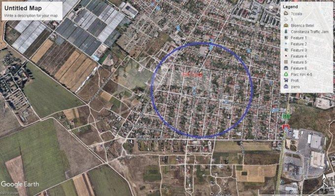 Teren intravilan de vanzare direct de la agentie imobiliara, in Constanta, zona Km 5, cu 73.000 euro negociabil. Suprafata de teren 637 metri patrati cu deschidere de 125 metri.