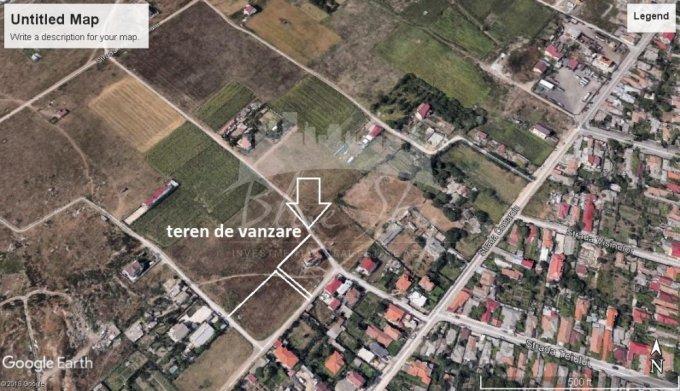de vanzare teren intravilan cu suprafata de 2886 mp si deschidere de 60 metri. In orasul Constanta, zona Vila Cucoanei.