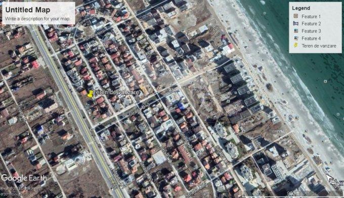 de vanzare teren intravilan cu suprafata de 1000 mp si deschidere de 30 metri. In orasul Constanta, zona Mamaia Nord.