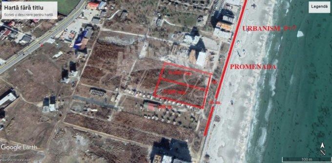 Teren intravilan de vanzare in Constanta, zona Mamaia Nord. Suprafata terenului 5000 metri patrati, deschidere 4968 metri. Pret: 3.250.000 euro negociabil.