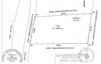 vanzare teren intravilan de la agentie imobiliara cu suprafata de 1420 mp, orasul Constanta