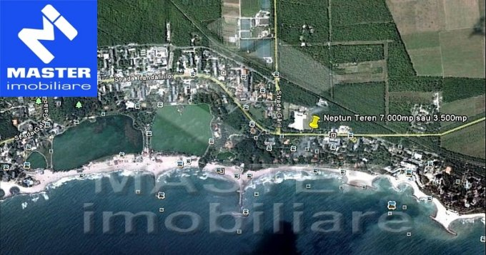 de vanzare teren intravilan cu suprafata de 7000 mp si deschidere de 130 metri. In orasul Neptun.