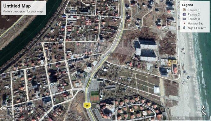 de vanzare teren intravilan cu suprafata de 1000 mp si deschidere de 1008 metri. In orasul Constanta.