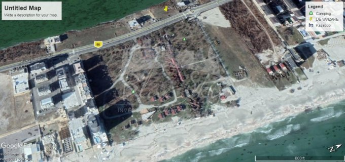 Teren vanzare de 3534 metri patrati, intravilan. 1.943.700 euro negociabil. Teren  Mamaia Nord Constanta