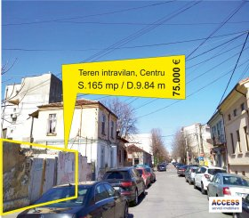 agentie imobiliara vand teren intravilan in suprafata de 165 metri patrati, amplasat in zona Centru, orasul Constanta