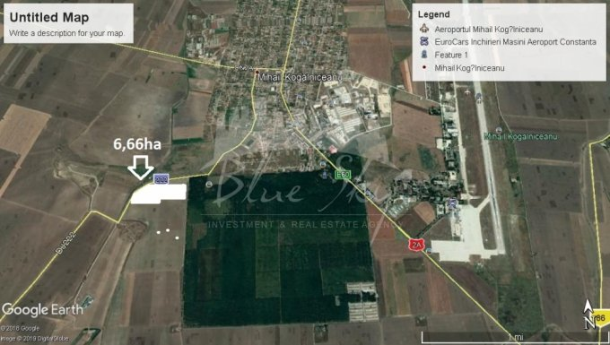 de vanzare teren intravilan cu suprafata de 33300 mp si deschidere de 89 metri. In comuna Mihail Kogalniceanu.