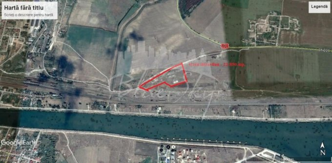Teren vanzare de 22850 metri patrati, intravilan. 100.000 euro negociabil. Teren  Nord Medgidia  Constanta
