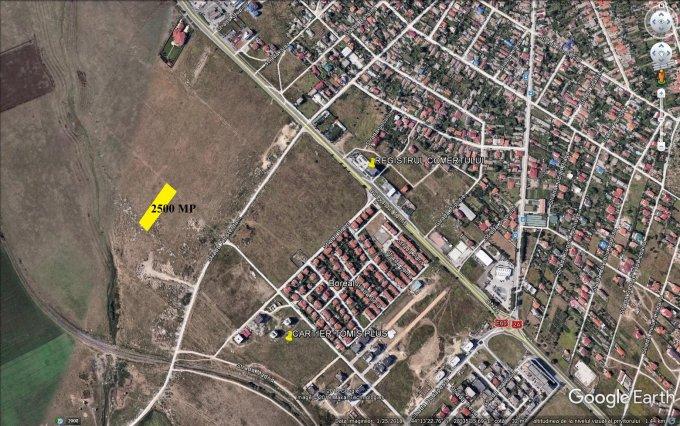 Teren intravilan de vanzare in Constanta, zona Tomis Plus. Suprafata terenului 2500 metri patrati, deschidere 24 metri. Pret: 159.000 euro. Destinatie: Rezidenta, Birou, Comercial.