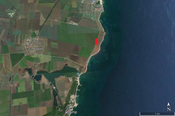 Teren intravilan de vanzare in 23 August. Suprafata terenului 1320 metri patrati, deschidere 54 metri. Pret: 33.000 euro. Destinatie: Rezidenta, Vacanta.