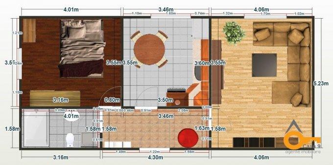 Apartament vanzare cu 2 camere, la Parter / 2, 1 grup sanitar, cu suprafata de 58 mp. Tecuci.