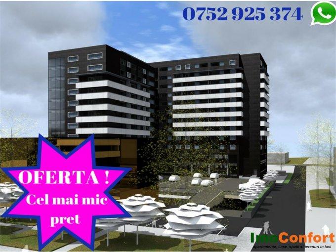 vanzare Apartament Iasi cu 2 camere, cu 1 grup sanitar, suprafata utila 43 mp. Pret: 61.375 euro.