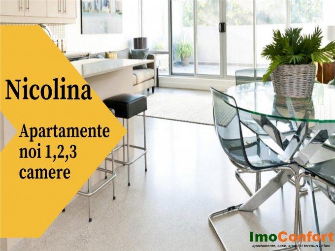 Apartament vanzare Iasi 2 camere, suprafata utila 4885 mp, 1 grup sanitar. 51.300 euro. Etajul 1 / 9. Apartament Nicolina 1 Iasi