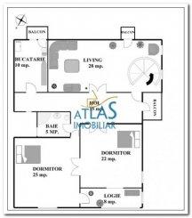 vanzare apartament decomandata, zona Copou, orasul Iasi, suprafata utila 135 mp