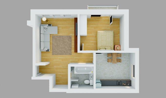 Duplex de vanzare in Magurele cu 2 camere, cu 1 grup sanitar, suprafata utila 54 mp. Pret: 45.900 euro. Usa intrare: Metal. Usi interioare: PVC.