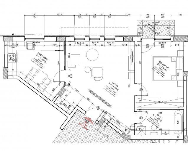 Apartament de vanzare direct de la dezvoltator imobiliar, in Magurele, in zona Centru, cu 53.500 euro. 1  balcon, 1 grup sanitar, suprafata utila 54 mp.