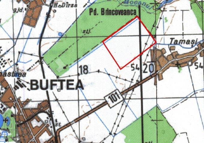 Teren extravilan de vanzare direct de la agentie imobiliara, in Buftea, zona Periferie, cu 46.000 euro negociabil. Suprafata de teren agricol 4600 metri patrati cu deschidere de 23 metri.  Destinatie: Agricultura.