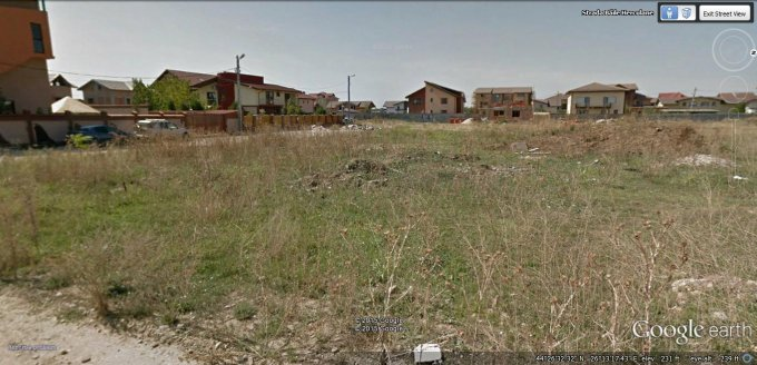 Teren intravilan de vanzare in Pantelimon, zona Sud-Est. Suprafata terenului 600 metri patrati, deschidere 22 metri. Pret: 60.000 euro. Destinatie: Rezidenta.