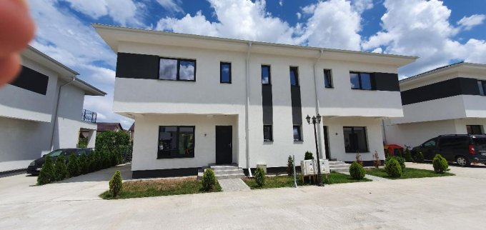 Vila cu 4 camere, 1 etaj, cu suprafata utila de 120 mp, 3 grupuri sanitare, 2  balcoane. 115.000 euro. Destinatie: Rezidenta. Vila Bragadiru  Ilfov