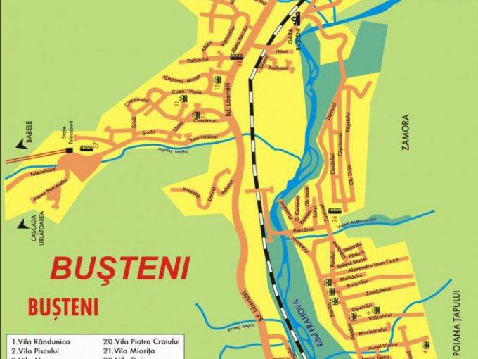 vanzare apartament decomandata, zona Sud-Vest, orasul Busteni, suprafata utila 50 mp