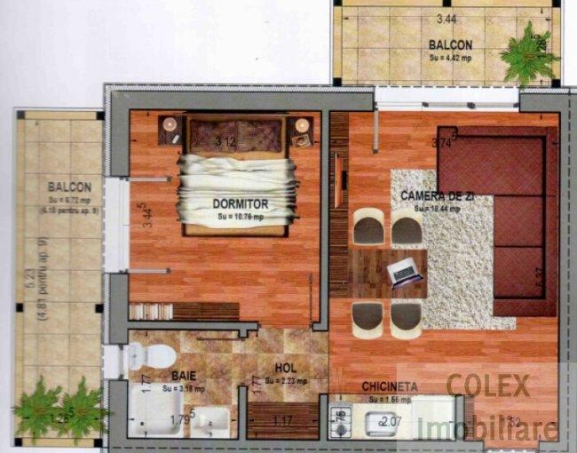 vanzare Apartament Busteni cu 2 camere, cu 1 grup sanitar, suprafata utila 59 mp. Pret: 50.000 euro negociabil.