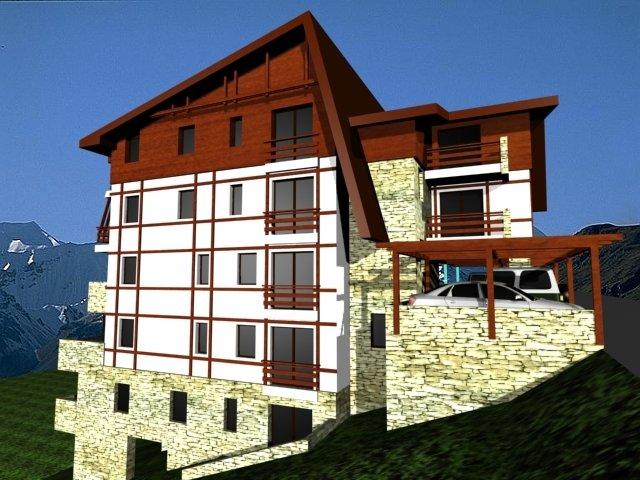 vanzare apartament decomandata, orasul Azuga, suprafata utila 60 mp