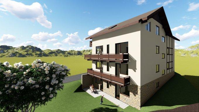 vanzare Apartament Busteni cu 3 camere, cu 1 grup sanitar, suprafata utila 67 mp. Pret: 61.500 euro. Incalzire: Centrala proprie a locuintei.
