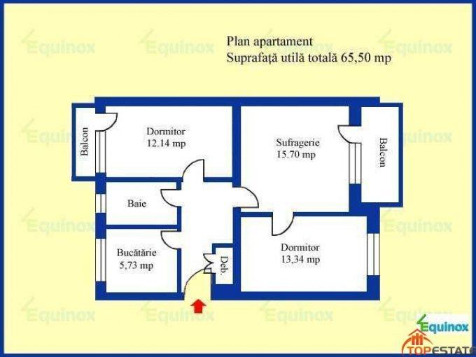 agentie imobiliara vand apartament semidecomandata, in zona Cina, orasul Ploiesti