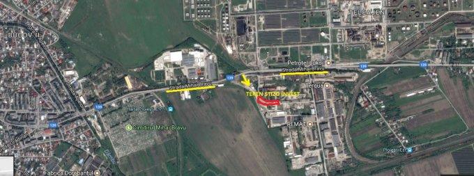 Teren intravilan de vanzare direct de la proprietar, in Ploiesti, zona Mihai Bravu, cu  EUR. Suprafata de teren 4044 metri patrati cu deschidere de 150 metri.