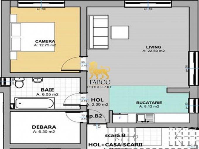 Apartament de vanzare direct de la agentie imobiliara, in Sibiu, in zona Selimbar, cu 34.500 euro. 1 grup sanitar, suprafata utila 58 mp.