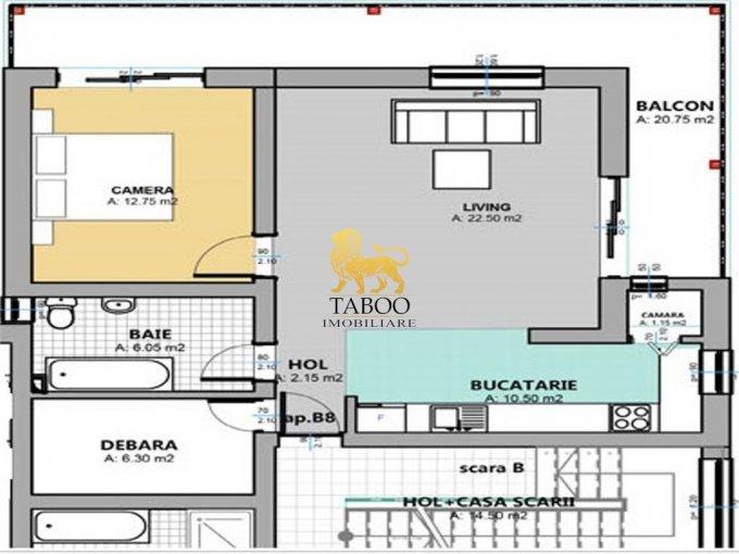 Apartament de vanzare direct de la agentie imobiliara, in Sibiu, in zona Selimbar, cu 37.900 euro. 1 grup sanitar, suprafata utila 62 mp.