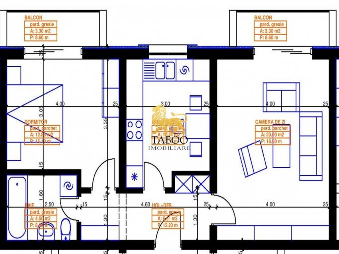 Apartament vanzare Sibiu 2 camere, suprafata utila 54 mp, 1 grup sanitar. 33.900 euro. Etajul 2 / 2. Apartament Calea Cisnadiei Sibiu