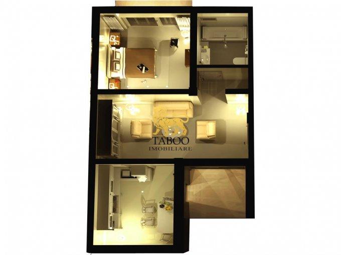 Apartament vanzare Sibiu 2 camere, suprafata utila 43 mp, 1 grup sanitar. 28.500 euro. Etajul 2 / 3. Apartament Calea Cisnadiei Sibiu
