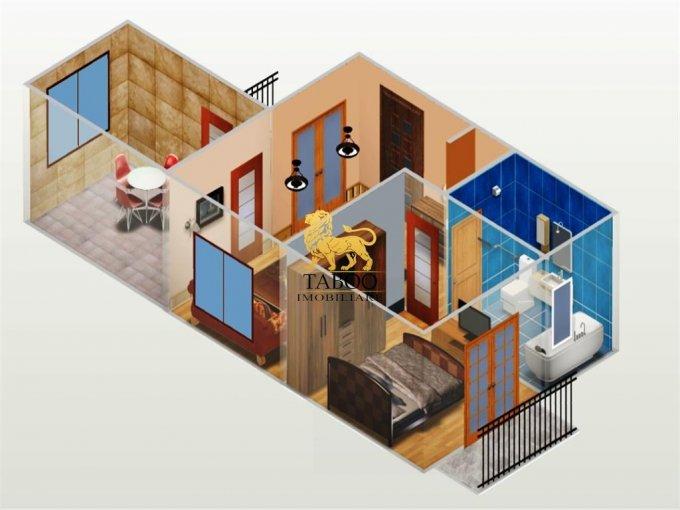vanzare Apartament Sibiu cu 2 camere, cu 1 grup sanitar, suprafata utila 43 mp. Pret: 30.500 euro.