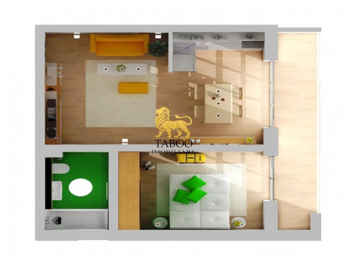 Apartament de vanzare direct de la agentie imobiliara, in Sibiu, in zona Calea Cisnadiei, cu 24.900 euro. 1 grup sanitar, suprafata utila 37 mp.