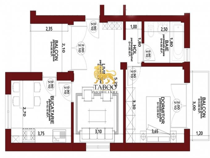 Apartament de vanzare direct de la agentie imobiliara, in Sibiu, in zona Calea Cisnadiei, cu 31.500 euro. 1 grup sanitar, suprafata utila 45 mp.