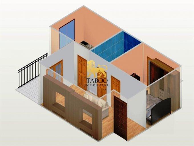 Apartament vanzare Calea Cisnadiei cu 2 camere, etajul 2 / 3, 1 grup sanitar, cu suprafata de 45 mp. Sibiu, zona Calea Cisnadiei.