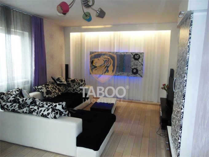 Apartament inchiriere Sibiu 2 camere, suprafata utila 60 mp, 1 grup sanitar. 400 euro. Etajul 3 / 4. Apartament Tilisca Sibiu