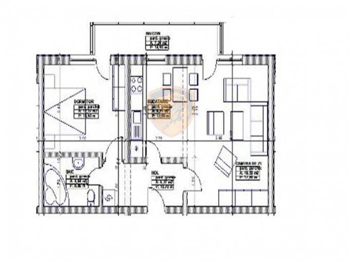Apartament vanzare Calea Cisnadiei cu 2 camere, la Parter / 2, 1 grup sanitar, cu suprafata de 51 mp. Sibiu, zona Calea Cisnadiei.