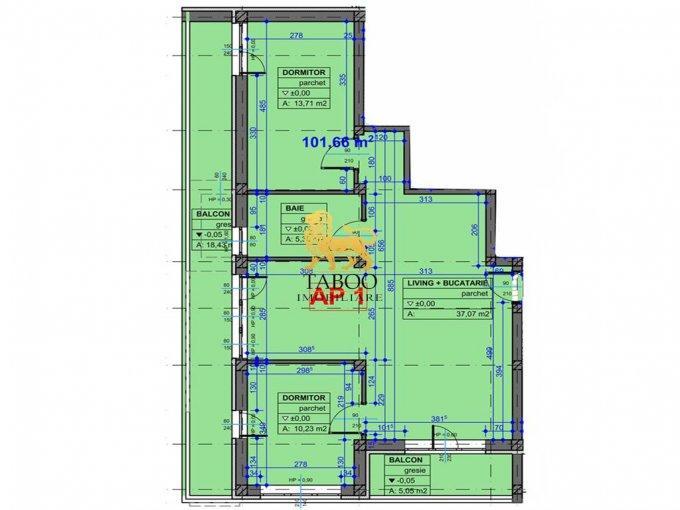 Apartament vanzare Sibiu 3 camere, suprafata utila 70 mp, 1 grup sanitar. 42.500 euro. La Parter / 3. Apartament Vasile Aaron Sibiu