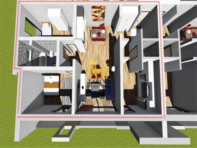 Apartament de vanzare direct de la agentie imobiliara, in Sibiu, in zona Selimbar, cu 52.000 euro. 2 grupuri sanitare, suprafata utila 83 mp.