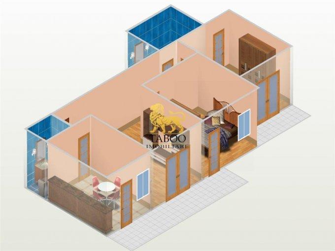 Apartament vanzare Sibiu 3 camere, suprafata utila 63 mp, 2 grupuri sanitare. 41.000 euro. Etajul 1 / 3. Apartament Calea Cisnadiei Sibiu