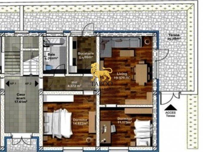 Apartament de vanzare direct de la agentie imobiliara, in Sibiu, in zona Selimbar, cu 45.500 euro. 1 grup sanitar, suprafata utila 60 mp.